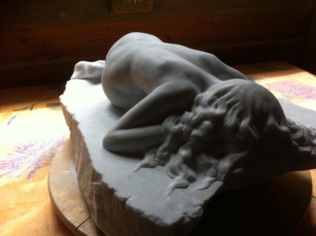 Pas à pas d'une Nymphe en marbre de Carrare Img_5210