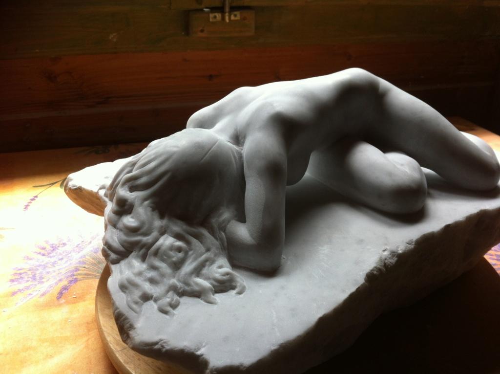Pas à pas d'une Nymphe en marbre de Carrare Img_5211