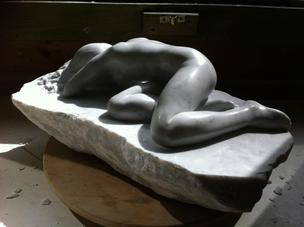 Pas à pas d'une Nymphe en marbre de Carrare Img_5218