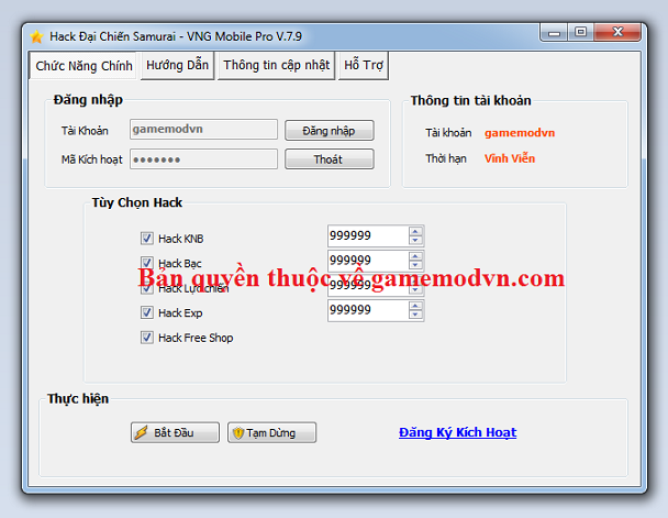 Hack Đại Chiến Samurai VNG miễn phí Daichi10