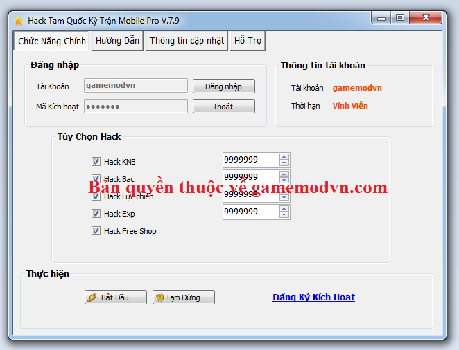 Hack Tam Quốc Kỳ Trận Mobile miễn phí Tamquo10