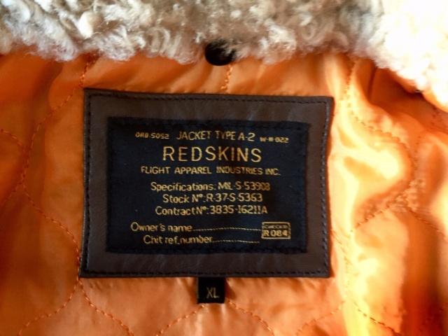 Flight Jacket Redskins marron Etiq10