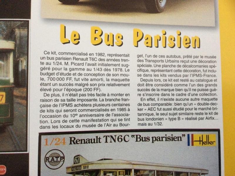 Fil rouge 2021 * AUTOBUS PARISIEN TN6 C2 HELLER au 1 / 24 24437210