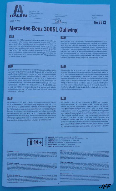 MERCEDES-BENZ 300 SL GULLWING  1/16  ITALERI 300_0012