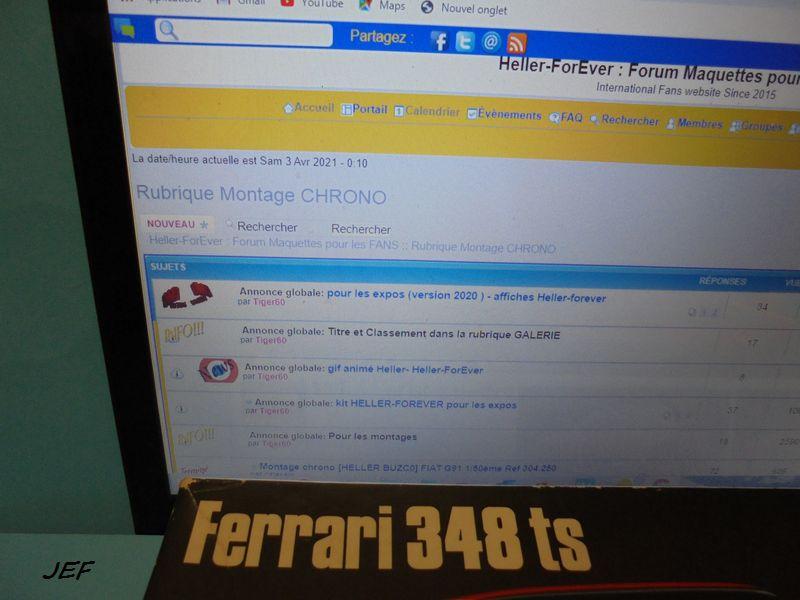 MONTAGE CHRONO FERRARI 348 TS 1/24 HASEGAWA Réf CA-8 348_0010