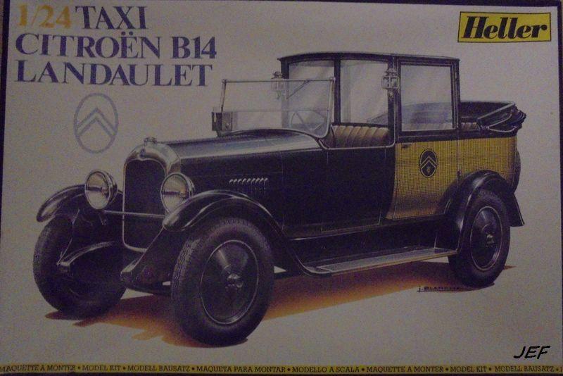 From the box-CITROEN B14 Landaulet Taxi HELLER 1/24 Réf 728 B14_0010