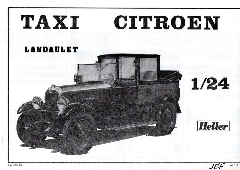 From the box-CITROEN B14 Landaulet Taxi HELLER 1/24 Réf 728 B14_0012