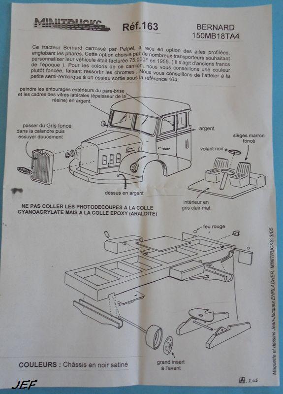 MINITRUCKS BERNARD 150MB18TA4 et SEMI FRUEHAUF 10T  Réf 163/164 ( 2005 ) Ber_0010