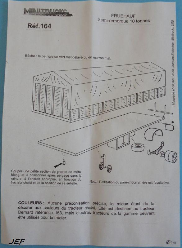 MINITRUCKS BERNARD 150MB18TA4 et SEMI FRUEHAUF 10T  Réf 163/164 ( 2005 ) Ber_0011