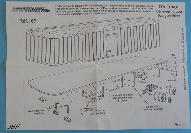 MINITRUCKS BERNARD TD180/35 et semi FRUEHAUF 2 ESSIEUX déco BORCA Réf 165/166 ( 03/2005 ) Bor_0014