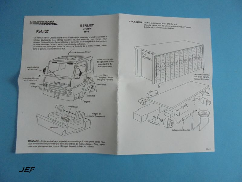 MINITRUCKS BERLIET GR280 ET REMORQUE 2 ESSIEUX CARNAUD S.A réf 127/128 ( 1999 ) Carn_014