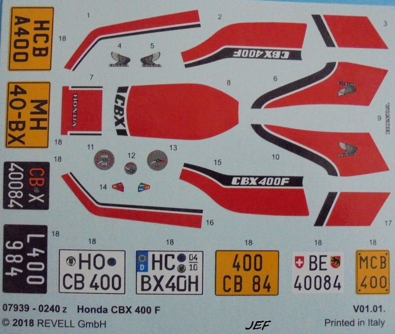 MONTAGE CHRONO HONDA CBX 400F REVELL 1/12 Réf 07939 Cbx_0015
