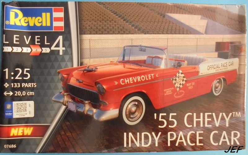 CHEVY 55 INDY PACE CAR  1/25 REVELL Che_0010