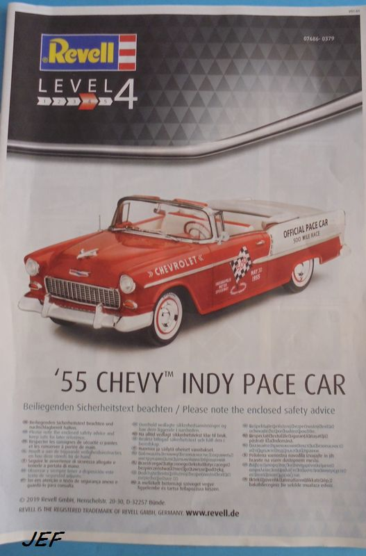 CHEVY 55 INDY PACE CAR  1/25 REVELL Che_0014