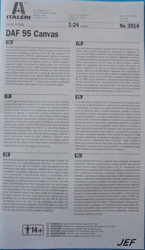 [ITALERI] DAF 95 bâché transports CHEVRIER 1/24ème Réf 3914 - Page 2 Daf_0013