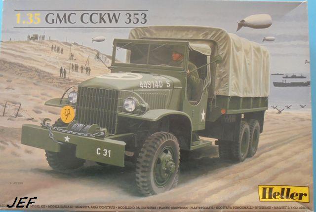 GMC MERCERON DOUBLE CABINE ESVRES / INDRE  en scratch sur base Heller 1/35ème Réf 81121 Gmc_0113