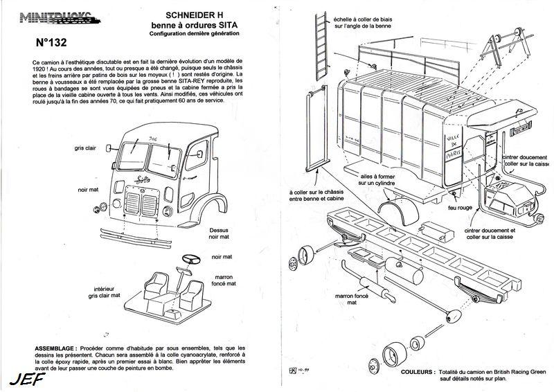 MINITRUCKS SCHNEIDER H benne à ordures SITA  Réf 132 (10/1999) Schn_011