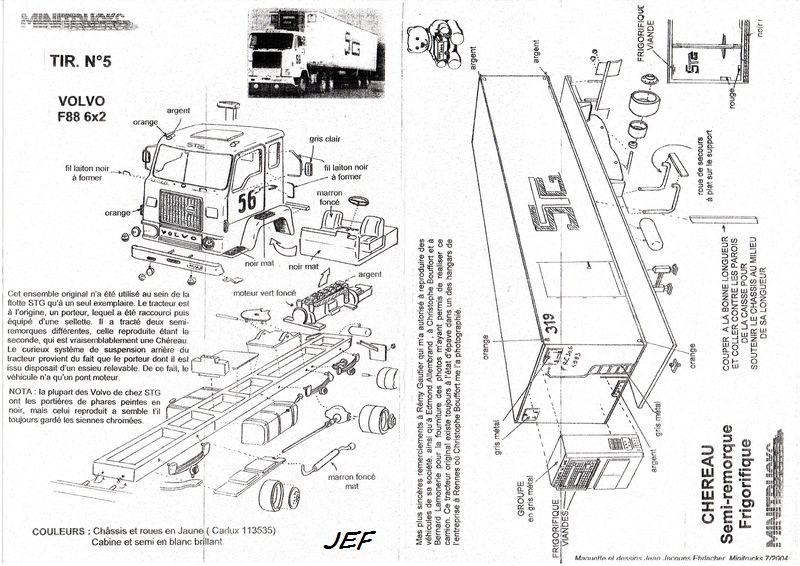 MINITRUCKS VOLVO F88 6X2 et semi CHEREAU frigorifique Réf TIR5 ( 07/2004 ) Stg_0011