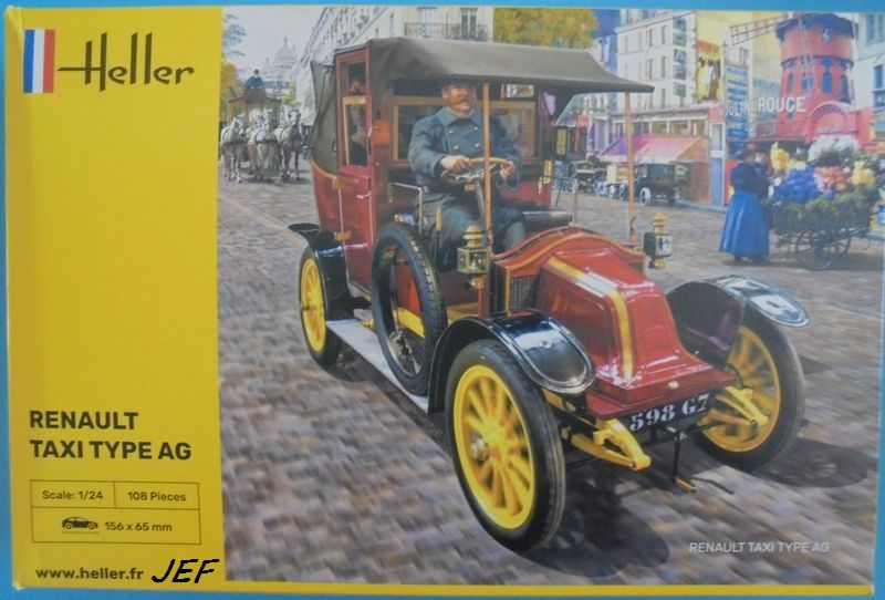 From the box - RENAULT TAXI TYPE AG HELLER 1/24 Réf 30705 ( origine ICM )  Tm_00111