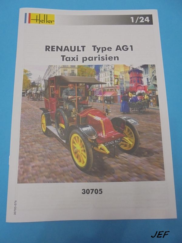 From the box - RENAULT TAXI TYPE AG HELLER 1/24 Réf 30705 ( origine ICM )  Tm_00310
