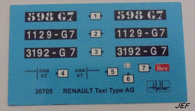 From the box - RENAULT TAXI TYPE AG HELLER 1/24 Réf 30705 ( origine ICM )  Tm_00410