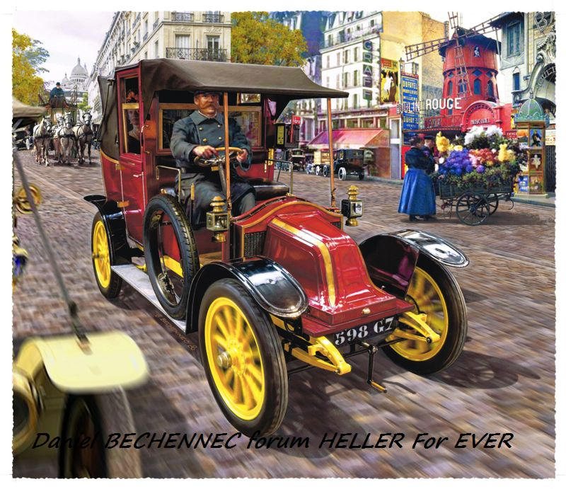 From the box - RENAULT TAXI TYPE AG HELLER 1/24 Réf 30705 ( origine ICM )  Tm_01210