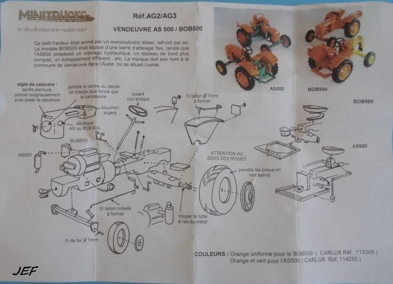 MINITRUCKS TRACTEUR VENDEUVRE AS 500 1/43 Réf AG 3 ( 2005 ) Ven_0012