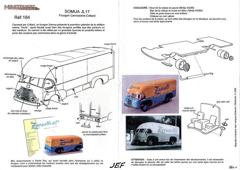 MINITRUCKS SOMUA JL 17 ZANNELLI carrossé par COTTARD Réf 184 ( 06/2009 ) Zan_0011