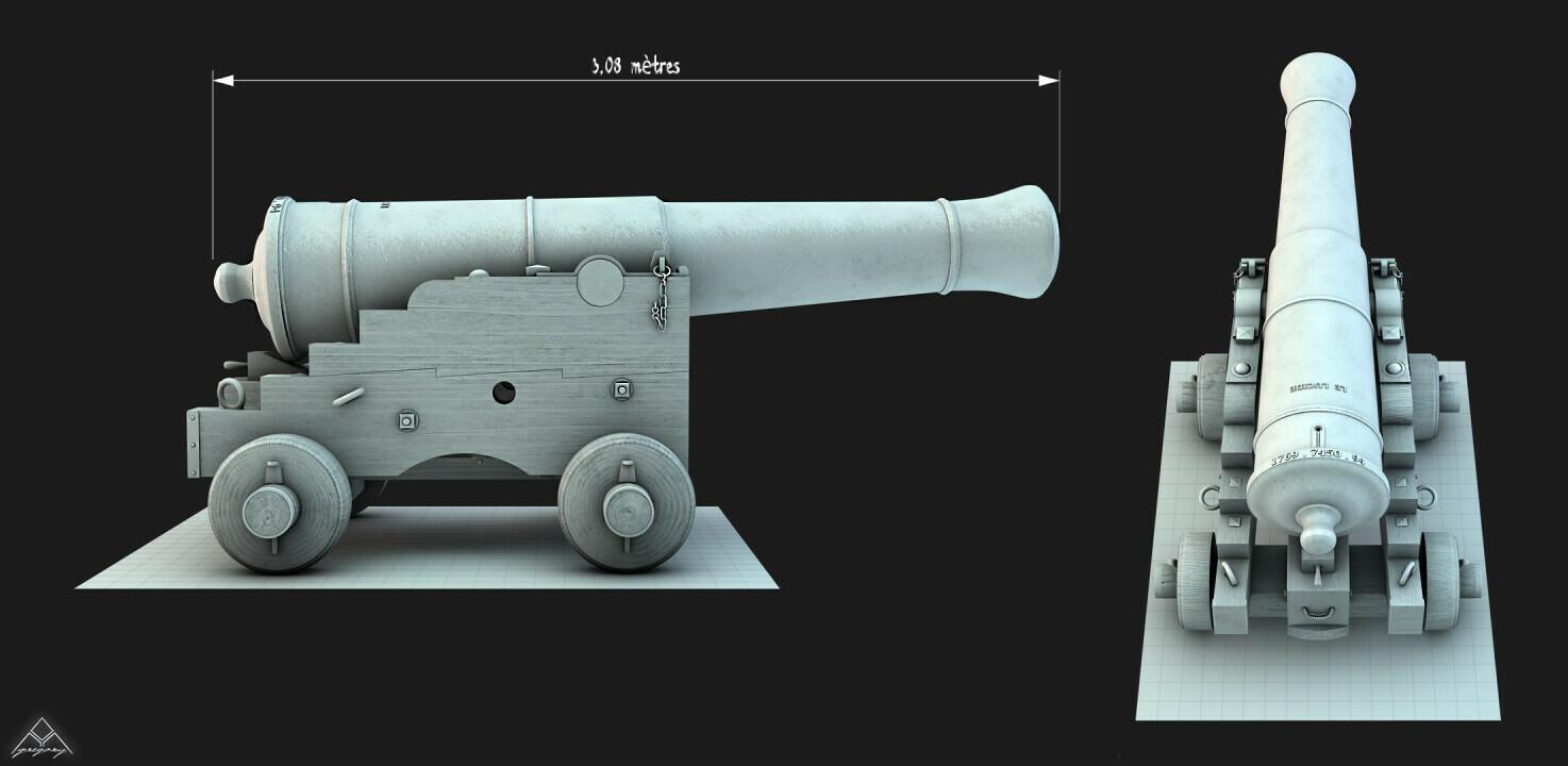 Canons vaisseau de 74 canons par Greg_3D Affut-10