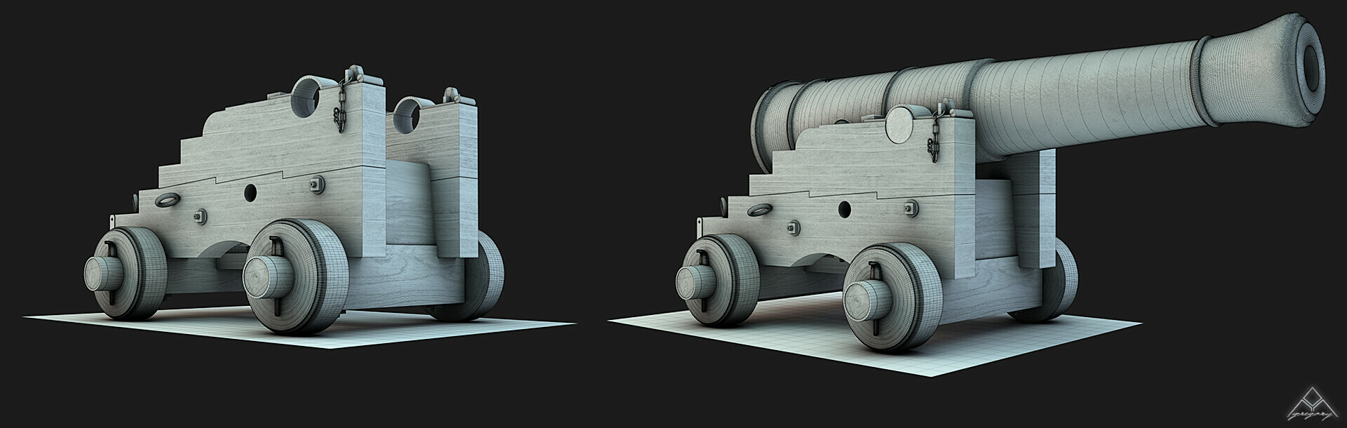 Canons vaisseau de 74 canons par Greg_3D Affut_11