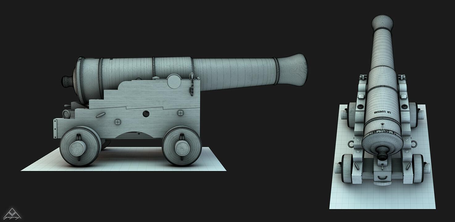 Canons vaisseau de 74 canons par Greg_3D Affut_13