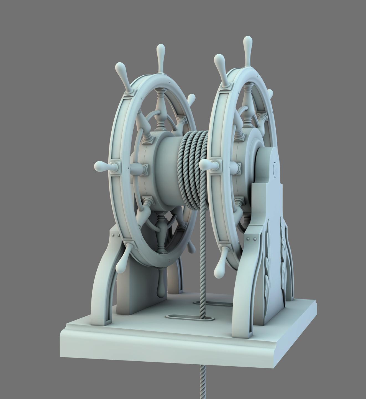 Barre à Roue (Création 3D) par Greg_3D Barre_23