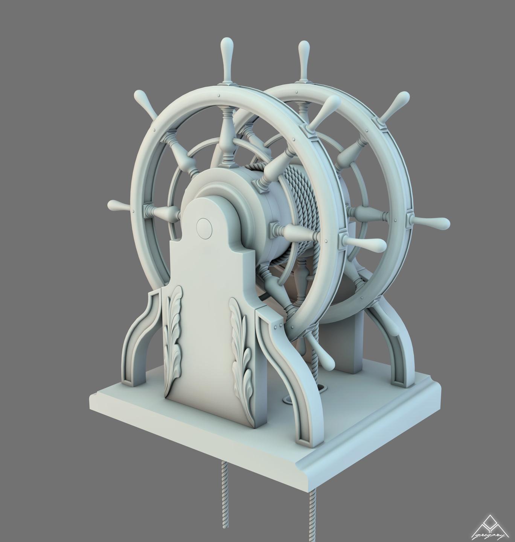Barre à Roue (Création 3D) par Greg_3D Barre_24