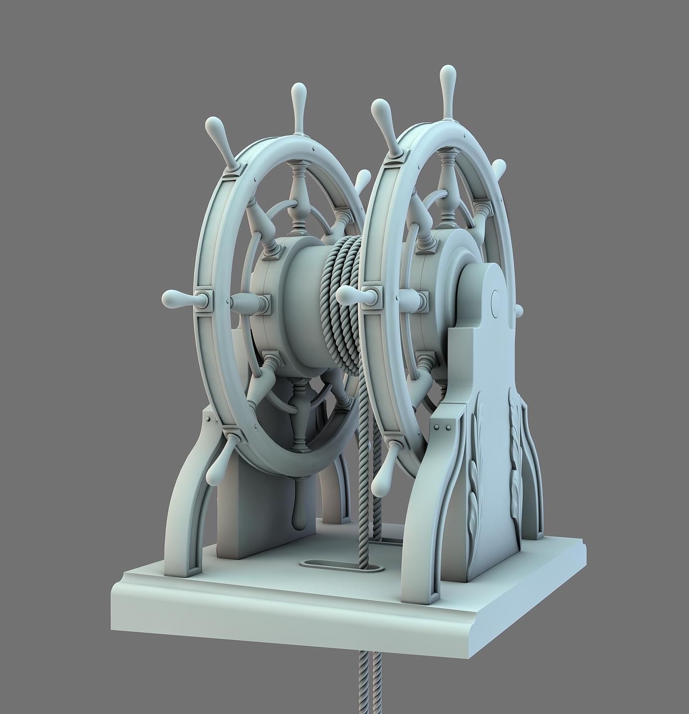 Barre à Roue (Création 3D) par Greg_3D Barre_27