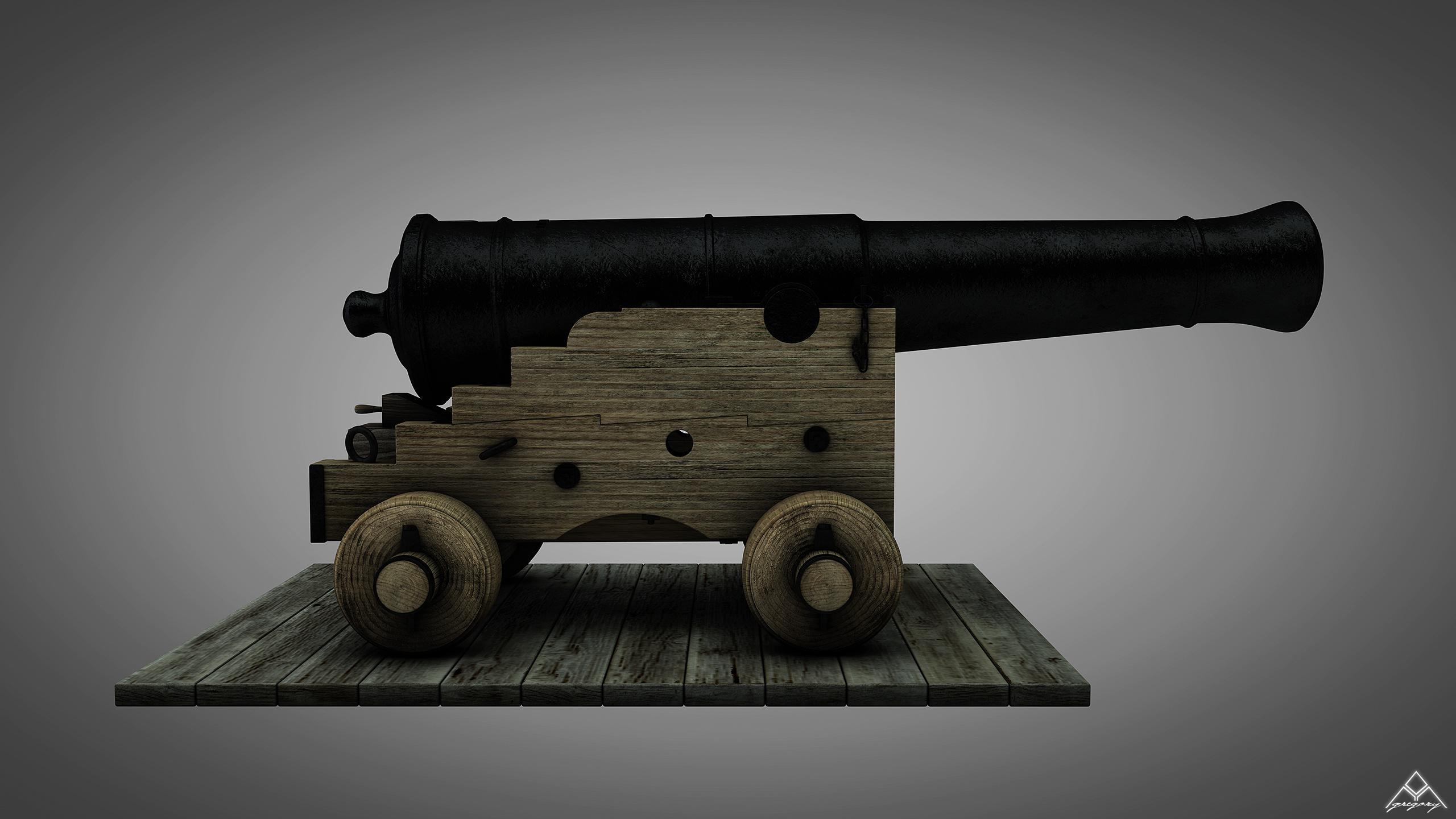 Canons vaisseau de 74 canons par Greg_3D Canon_16