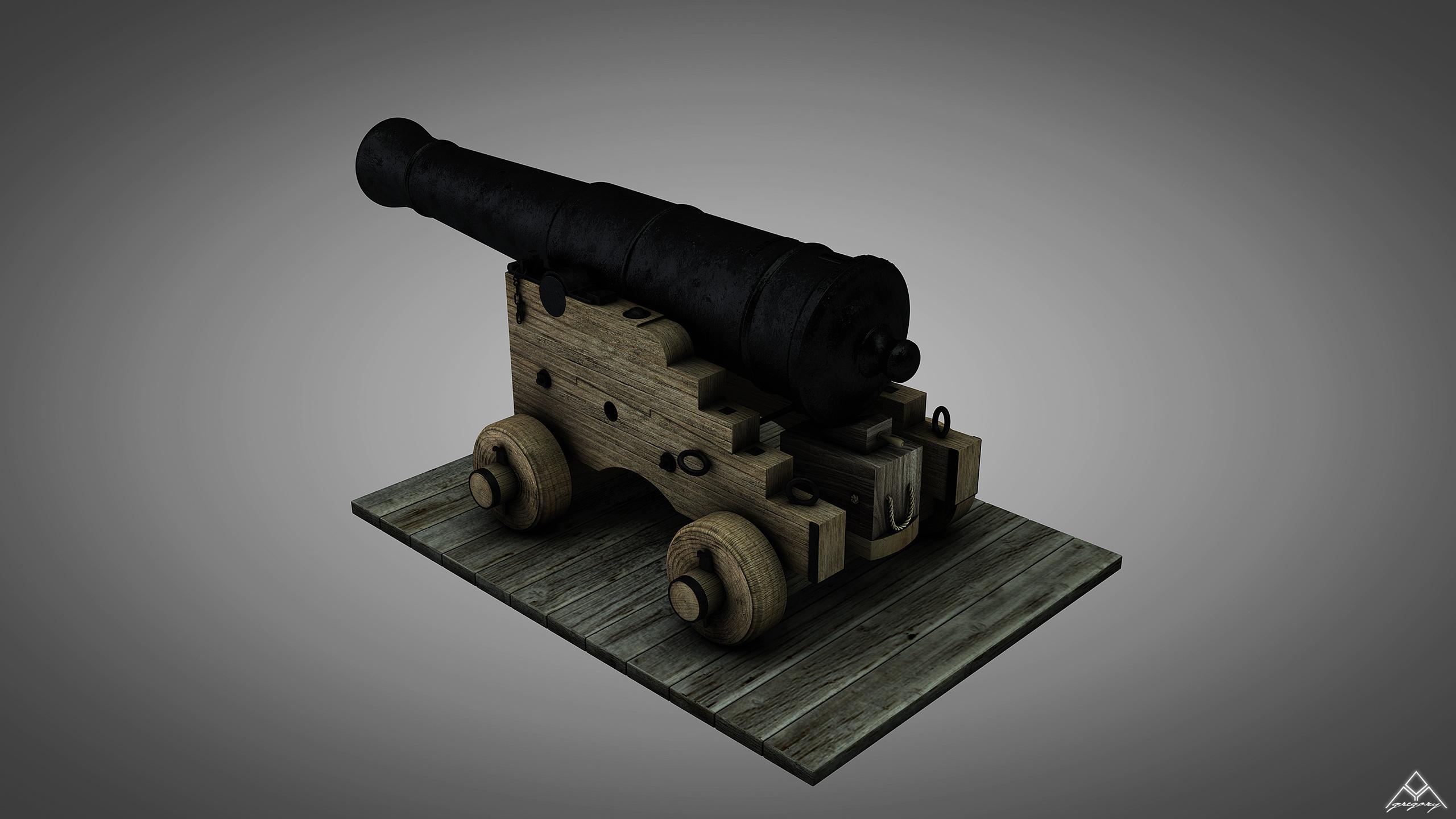 Canons vaisseau de 74 canons par Greg_3D Canon_18