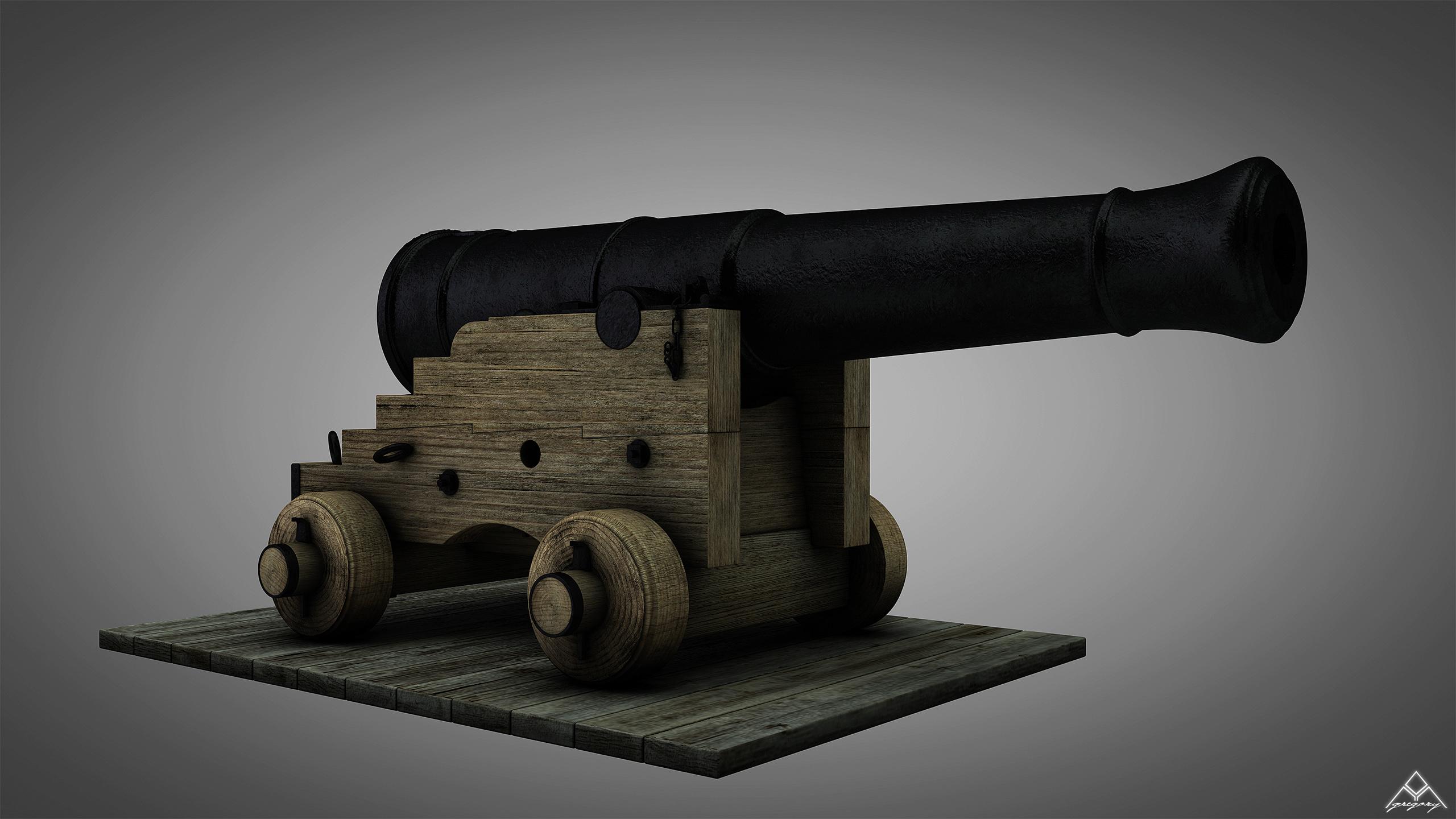 Canons vaisseau de 74 canons par Greg_3D Canon_21