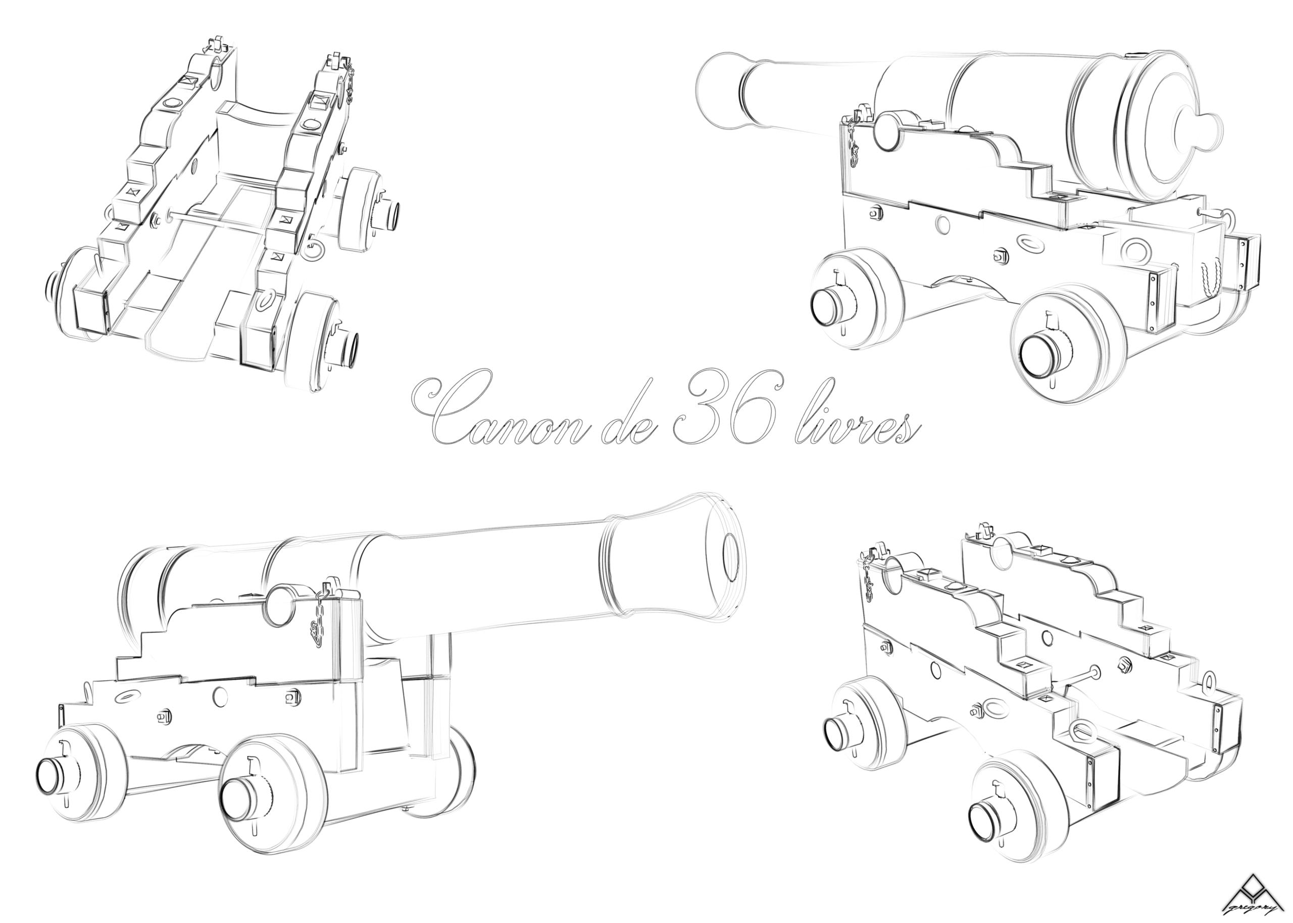 Canons de vaisseau 74 canons (Création 3D) par Greg_3D - Page 6 Canon_62