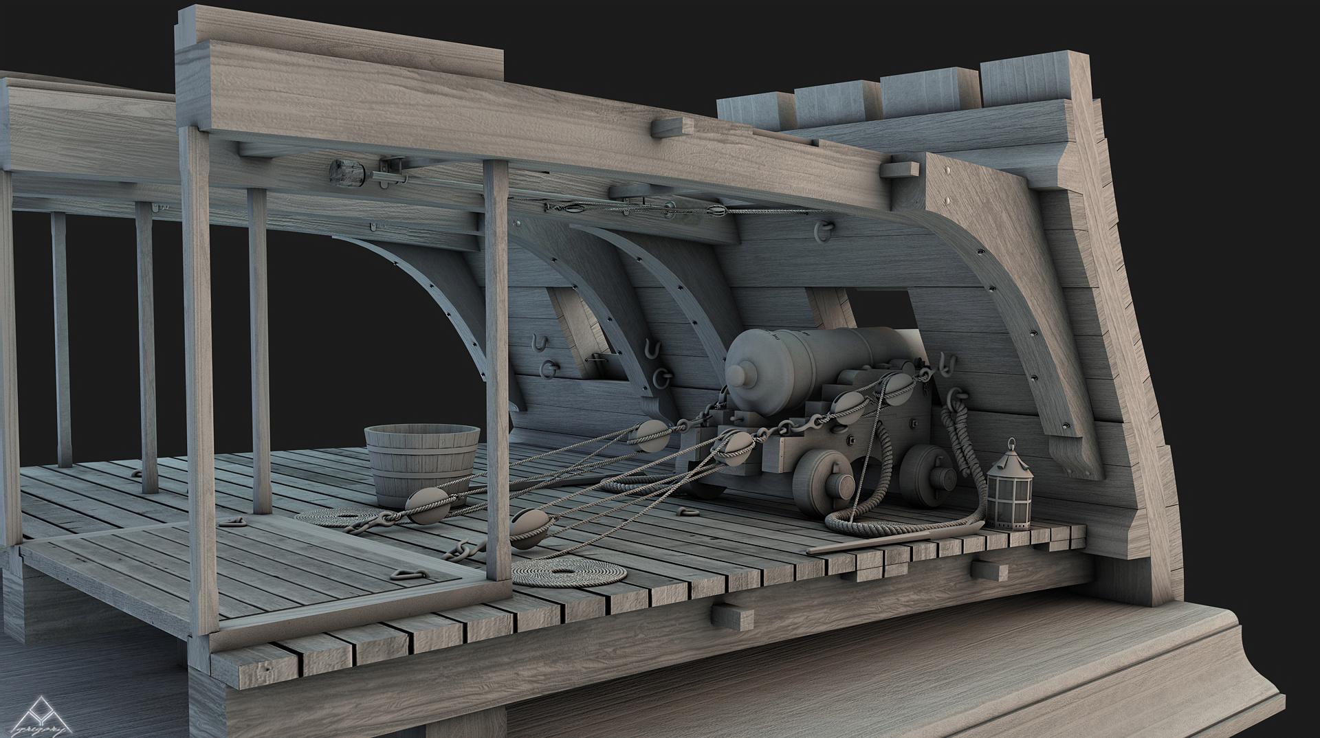 Canons vaisseau de 74 canons par Greg_3D - Page 2 Coupe_11