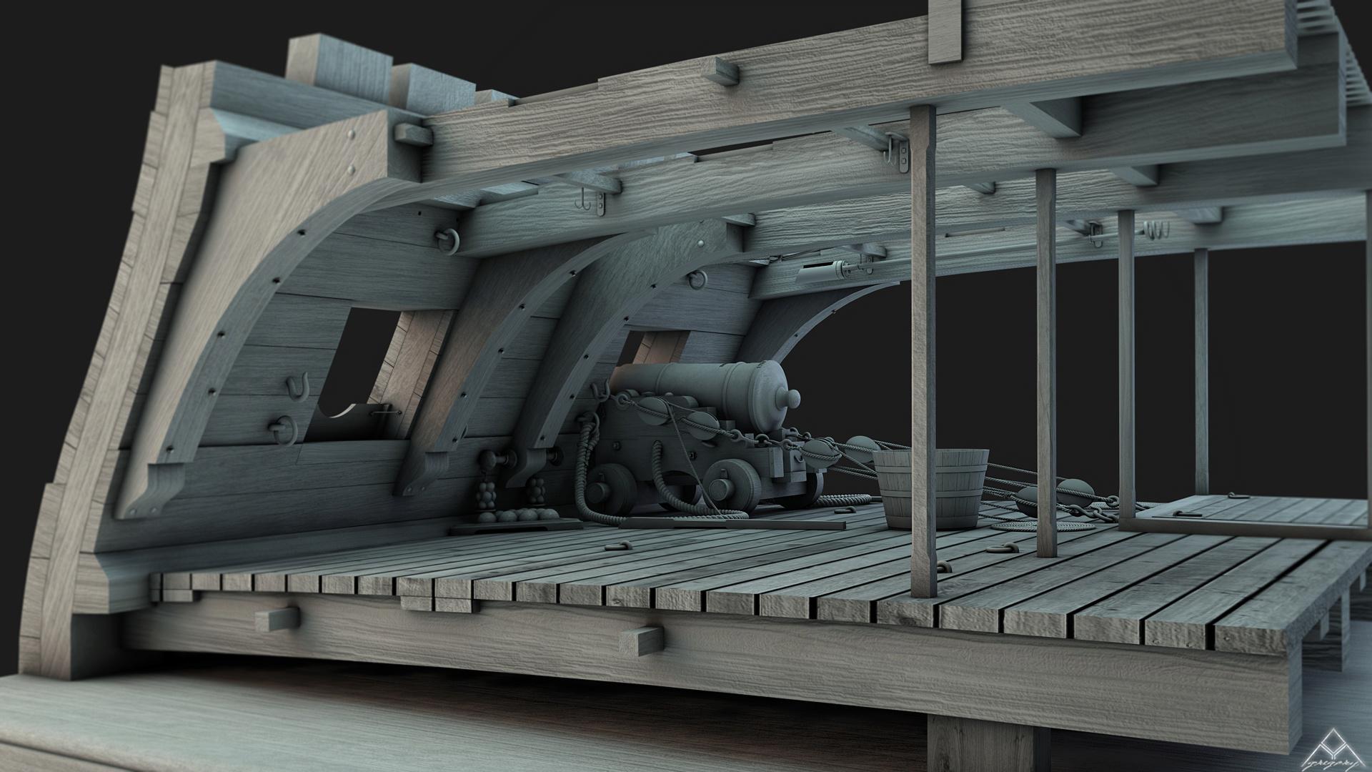Canons vaisseau de 74 canons par Greg_3D - Page 2 Coupe_12
