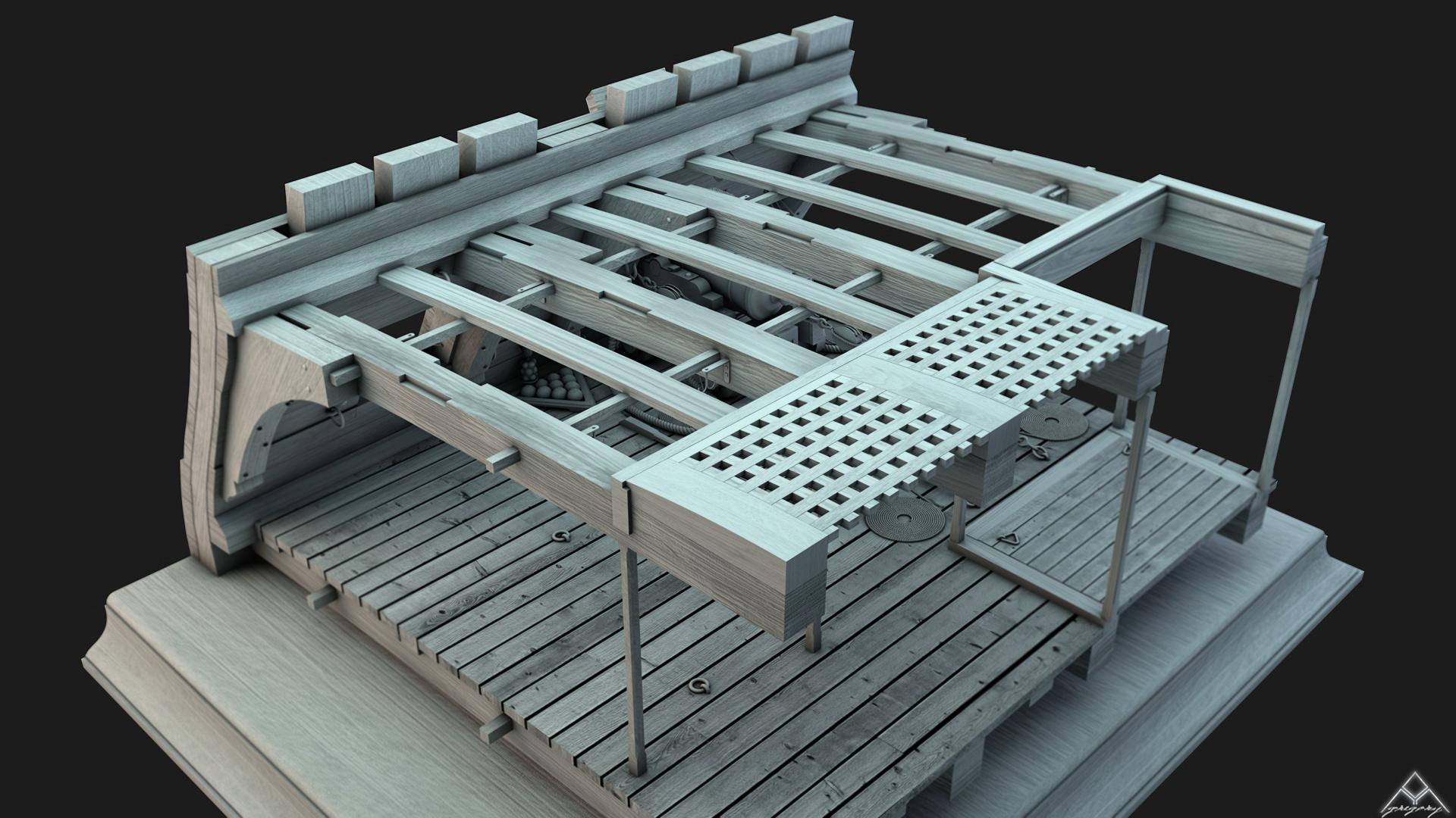 Canons vaisseau de 74 canons par Greg_3D - Page 2 Coupe_14