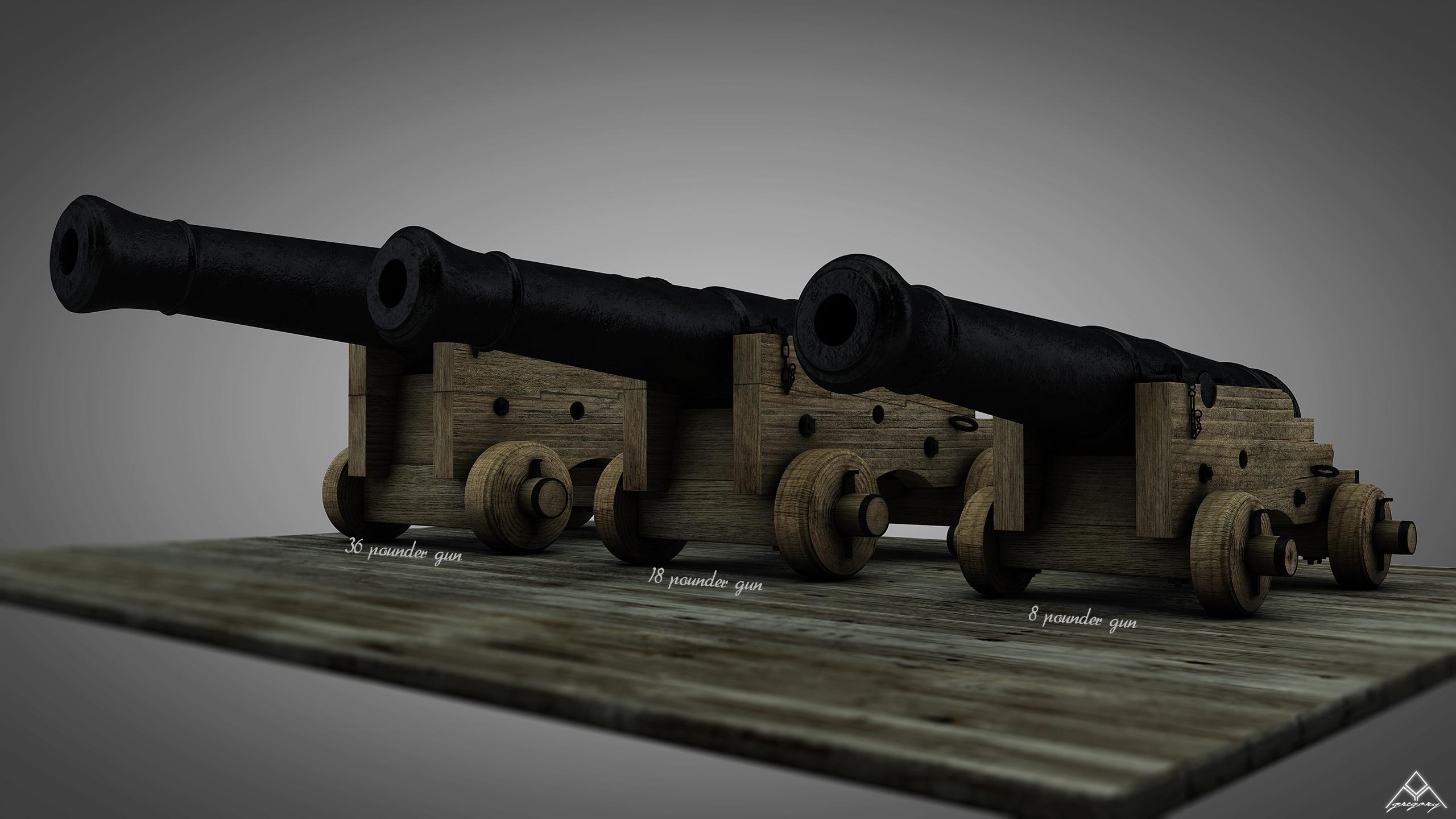 Canons vaisseau de 74 canons par Greg_3D - Page 2 Ensemb15