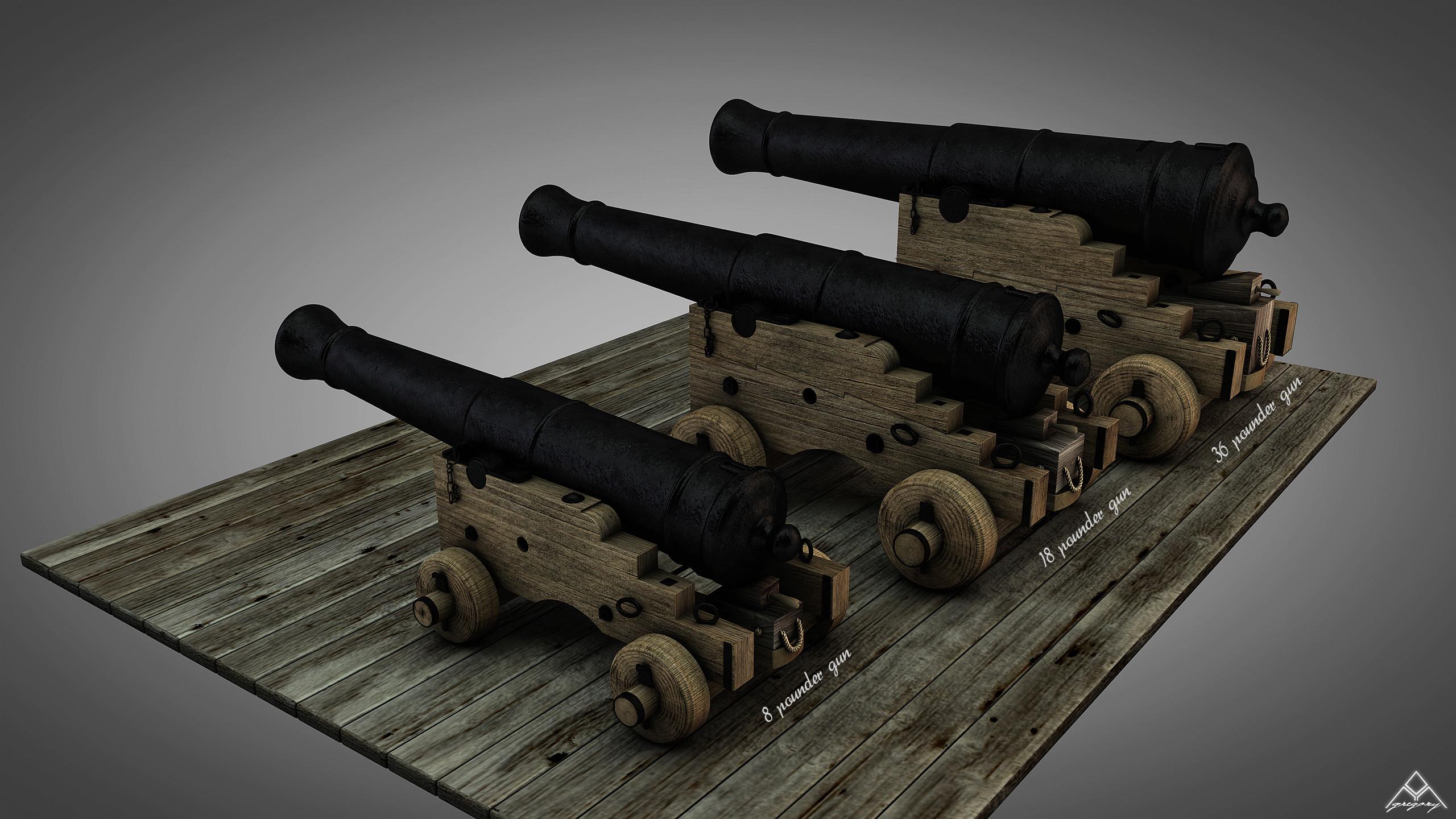 Canons vaisseau de 74 canons par Greg_3D - Page 3 Ensemb26