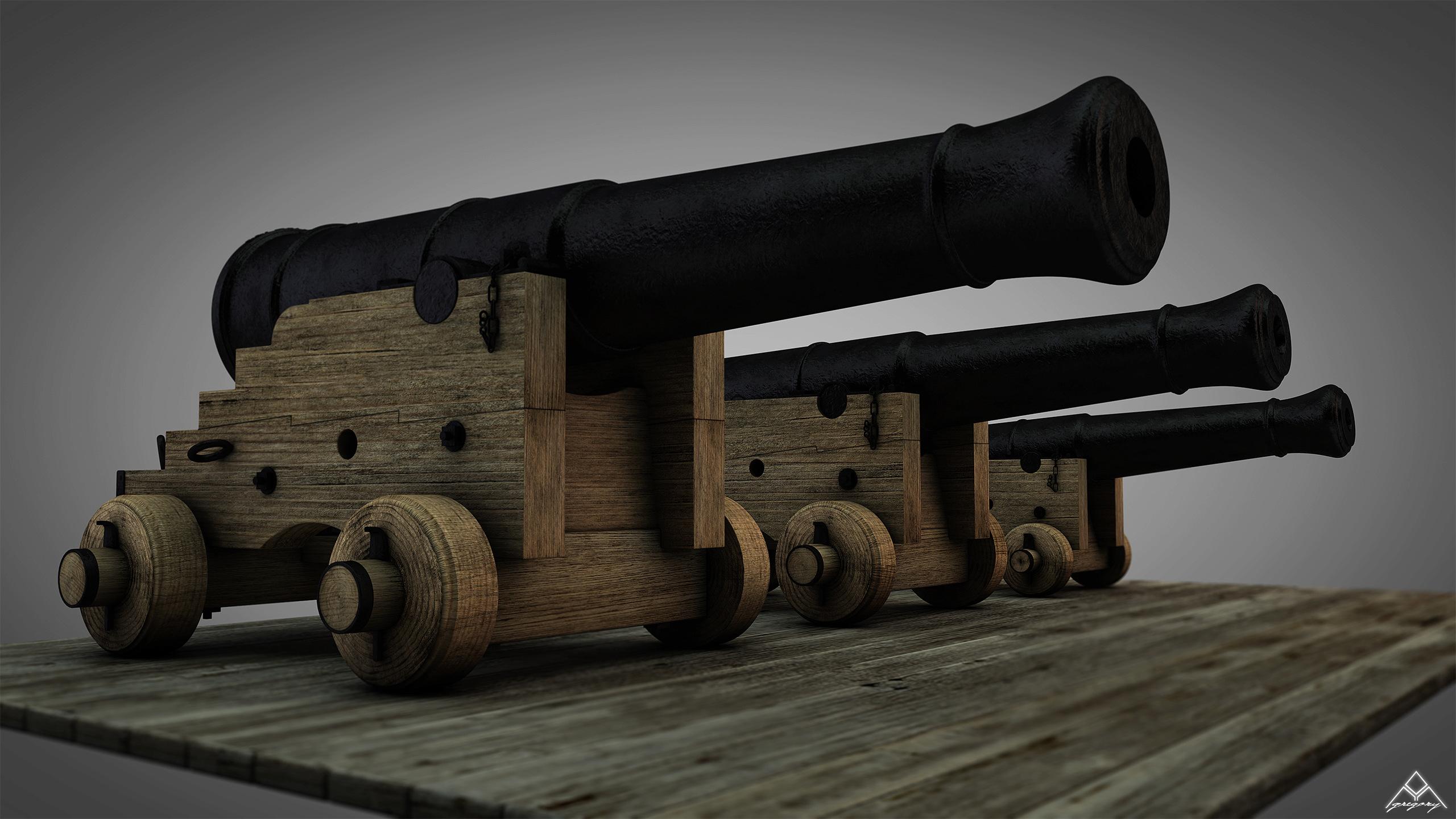 Canons vaisseau de 74 canons par Greg_3D - Page 3 Ensemb33