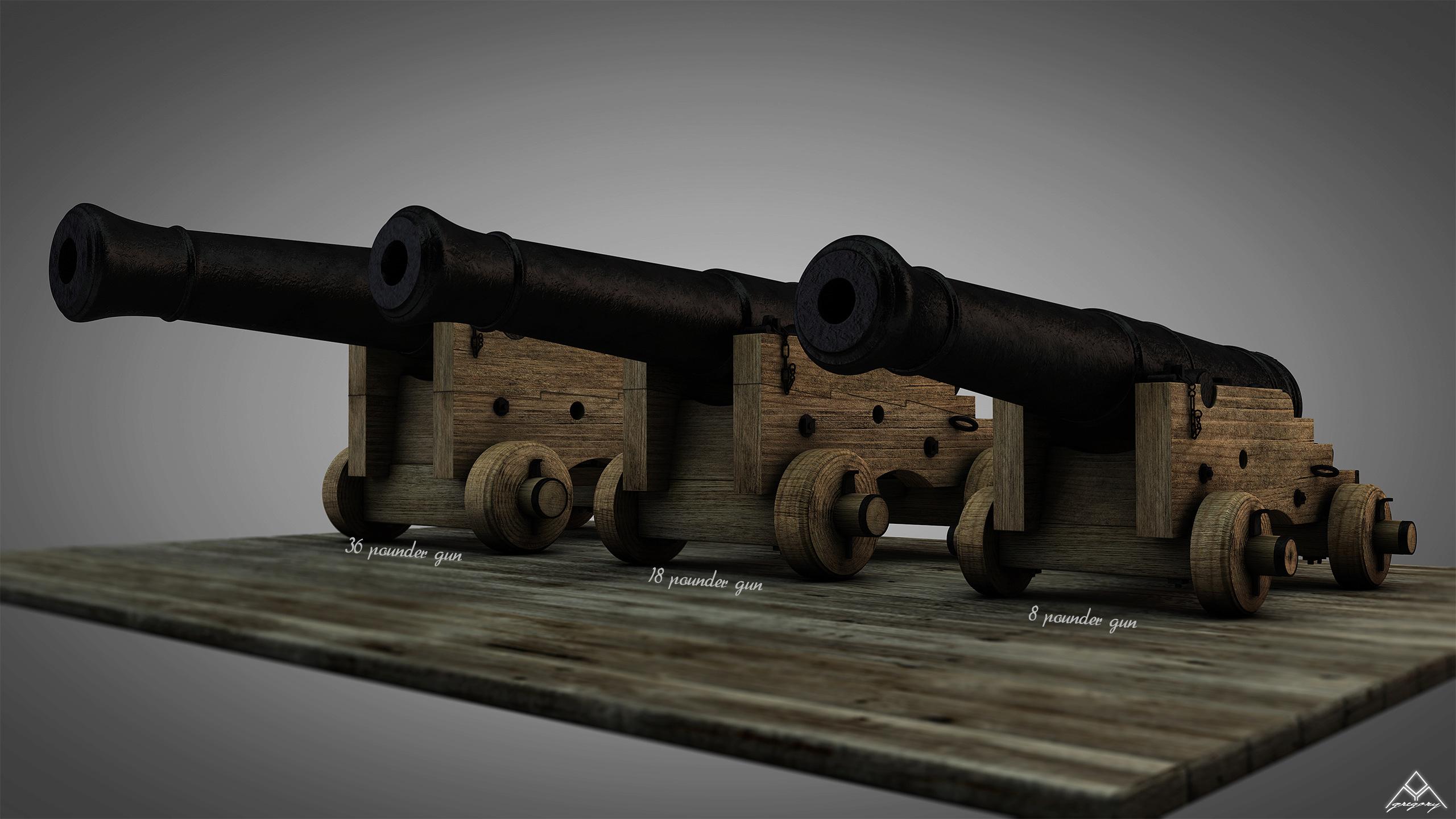Canons vaisseau de 74 canons par Greg_3D - Page 3 Ensemb34