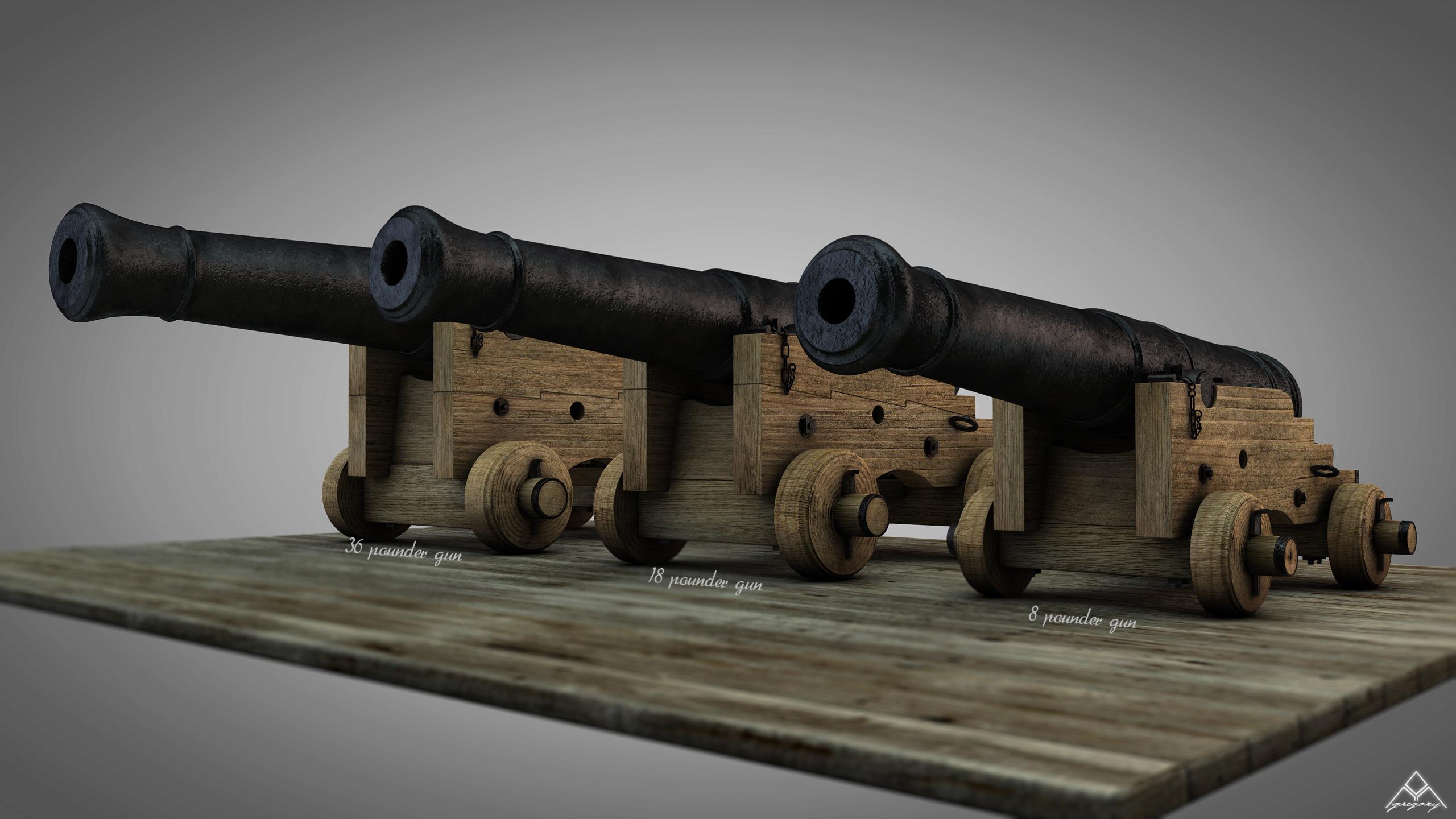 Canons vaisseau de 74 canons par Greg_3D - Page 3 Ensemb45
