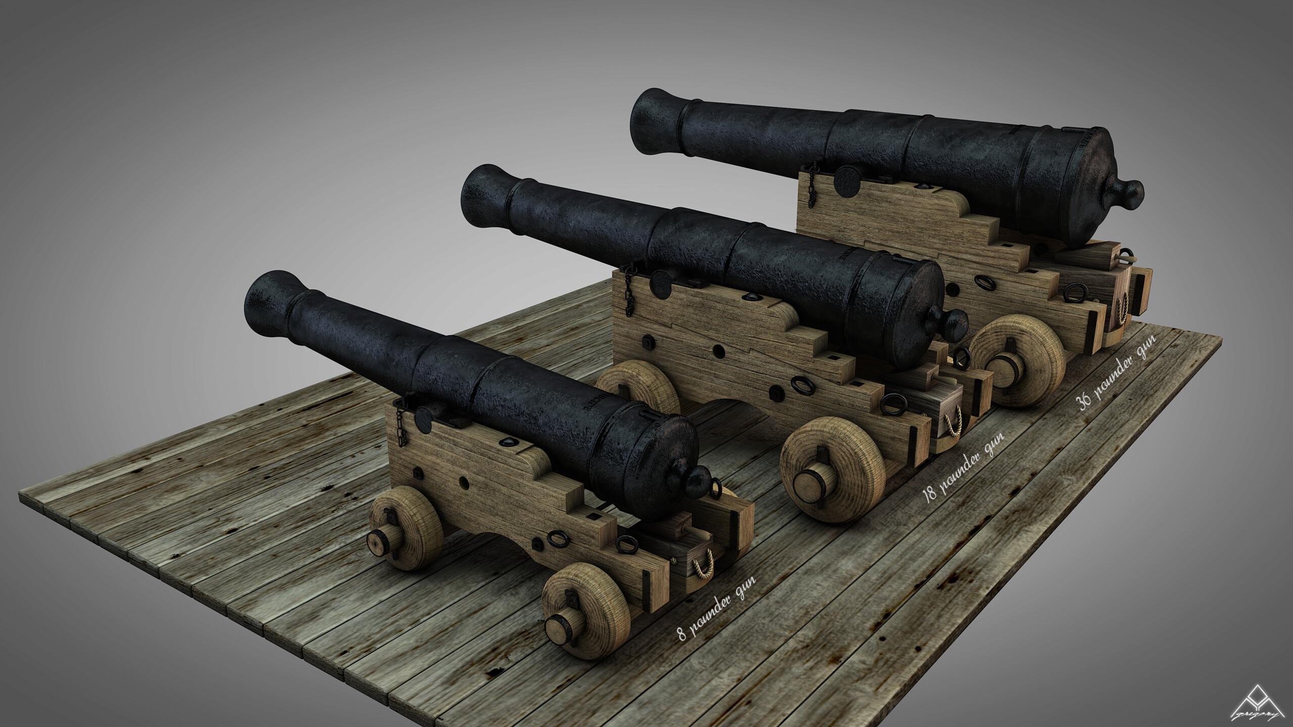 Canons vaisseau de 74 canons par Greg_3D - Page 3 Ensemb47