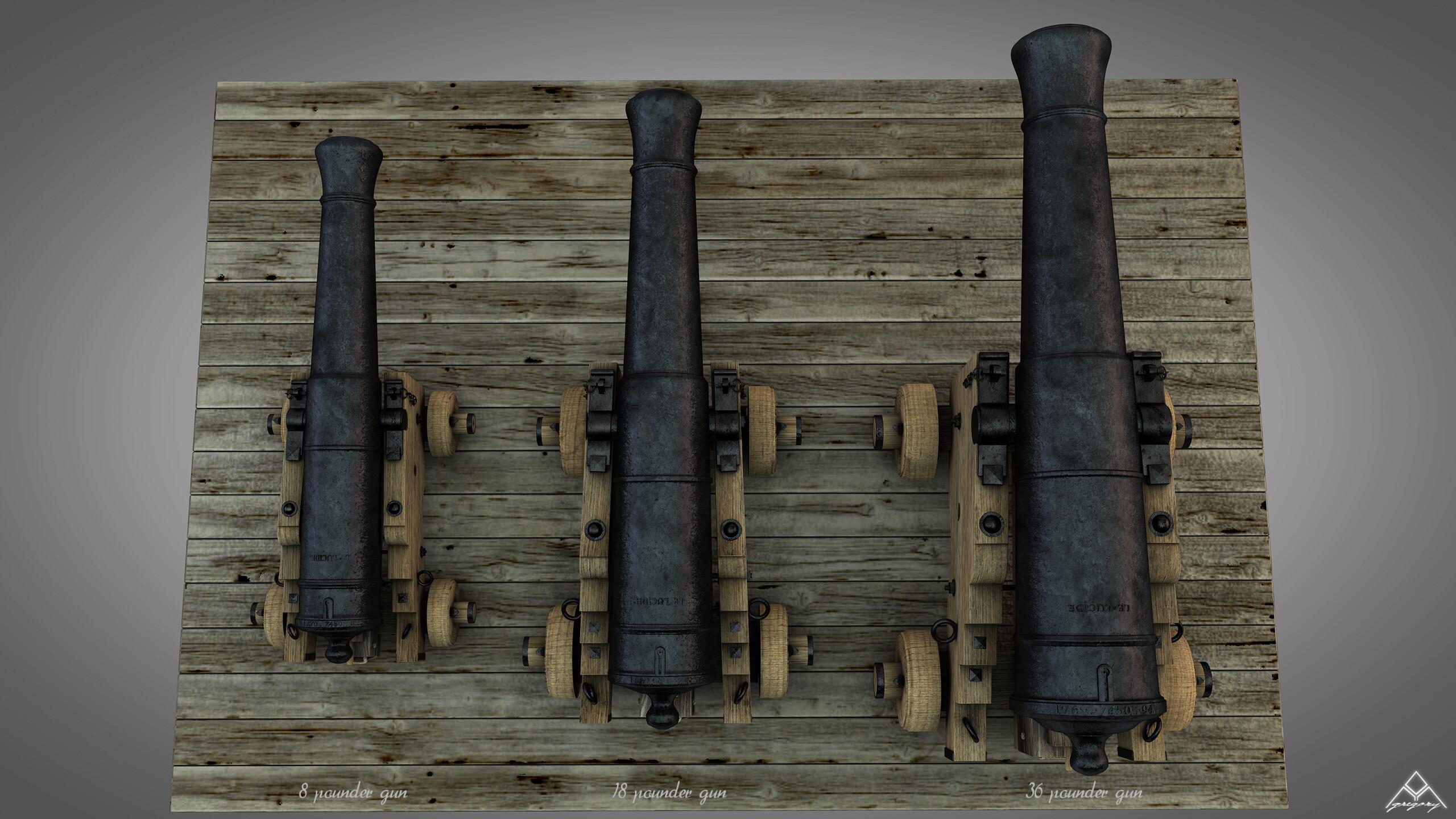 Canons vaisseau de 74 canons par Greg_3D - Page 3 Ensemb48