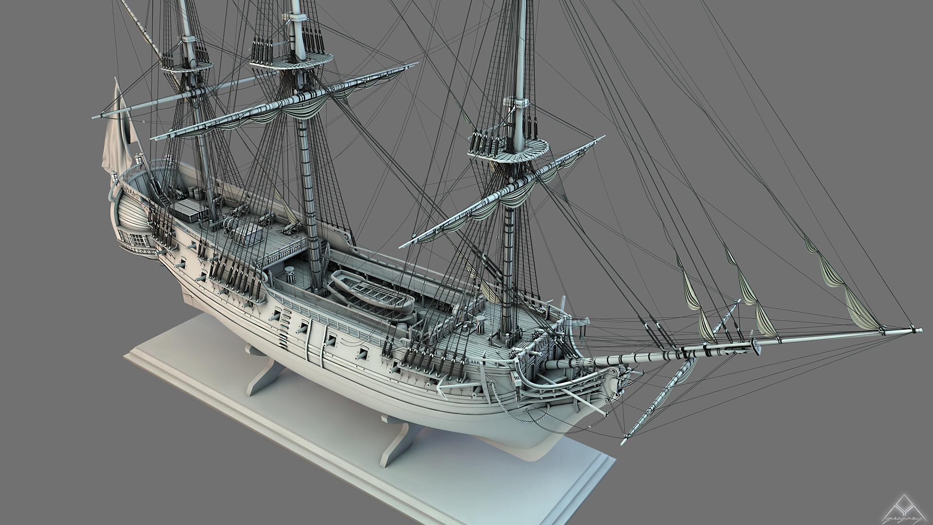 Frégate m'a première réalisation d'un navire en 3D. - Page 6 Frzoga20