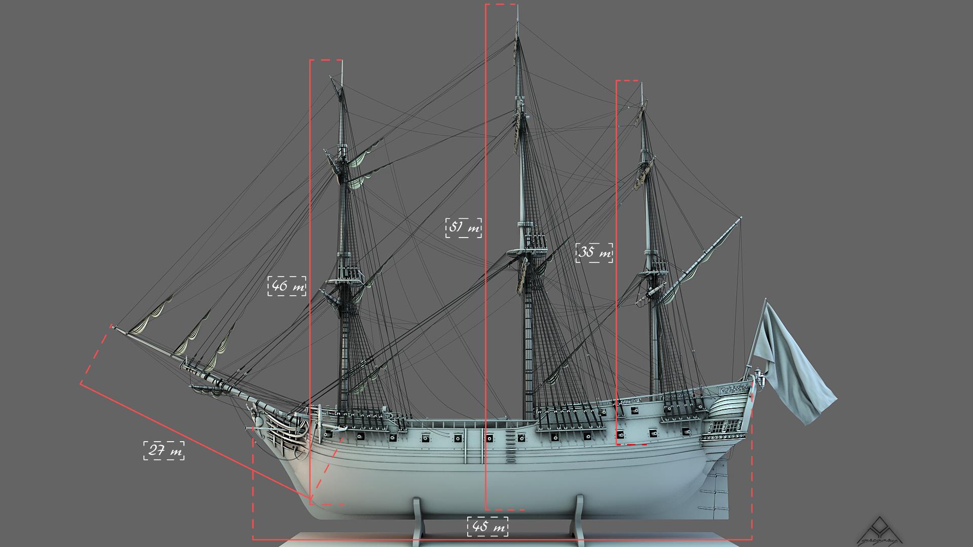 Frégate m'a première réalisation d'un navire en 3D. - Page 6 Frzoga24